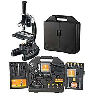 National 300-1200x Geographic Microscope with Case