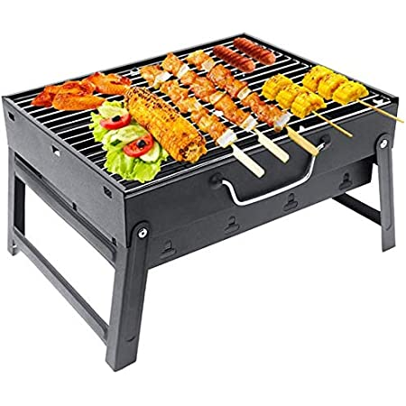 YAFEI Charcoal Grill Perfect Foldable Premium BBQ Grill for Outdoor Campers Barbecue Lovers Travel Park Beach Wild etc.[Black]