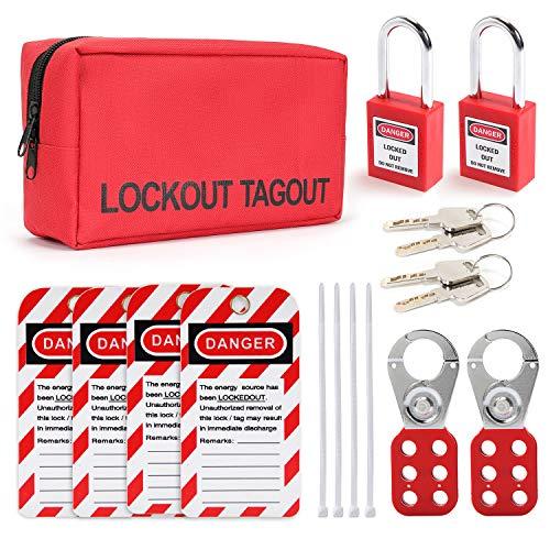 LOTO Electrical Waist Pouch Lockout Kit Metalic Finish