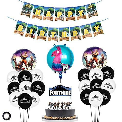 MIFIRE Videospiel Party Zubehör Happy Birthday Gaming Partydekor für Spielliebhaber, Junge Kinder Geburtstag Dekoration