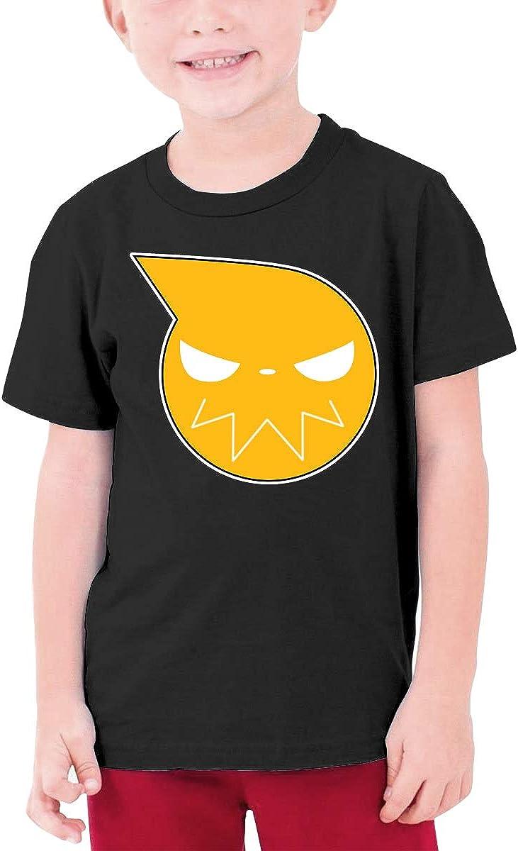 NOT Anime Soul Eater Logo Boys and Girls Tshirts Youth Short Sleeve T-Shirt Teenage Tees L