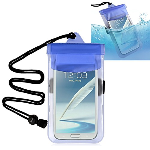 Waterproof Bag, Insten Waterproof Case Compatible with iPhone X/XS/XS Max/XR/iPhone 8 Plus/iPhone 7/iPhone 6 Plus Galaxy S10/S10 Plus/S10e/S9/S9+/S8+/S8, LG, Google Nexus 5X [6.5 x 4 inches] Blue