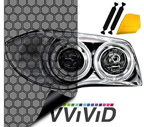 VViViD Hex Light AirTint Headlight Vinyl 16quot x 60quot w/Toolkit
