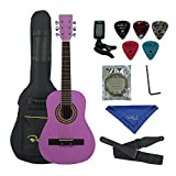 Bailando 30 Inch Starter Acoustic Beginner Guitar with Carrying Bag & Accessories, Purple