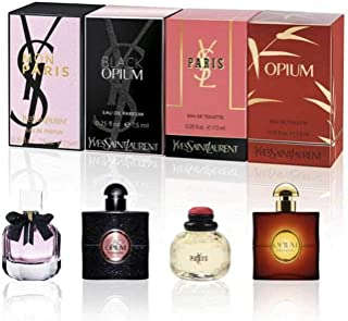 YVES SAINT LAURENT YSL Perfume Miniatures Travel Set for Women, Eau de Toilette & Eau de Perfume,...