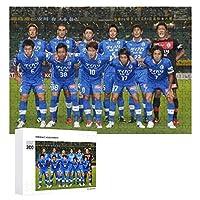 ジグソーパズル大田三信フットボールクラブ、木質、成層なし、自家製デコレーション、すべての年齢層に適しています(300 PCS)