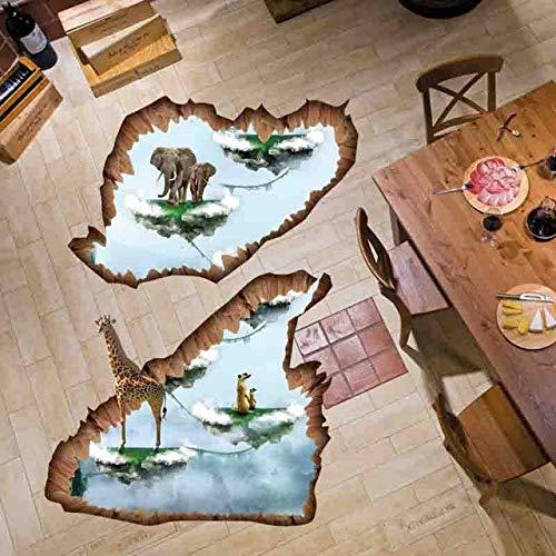 Autocollant Mural Amovible Flottant The Island 3D Home Decor Salon Autocollants De Plancher