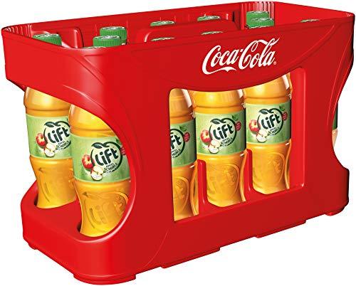 Lift Apfelschorle, Spritzige Erfrischung kombiniert aus fruchtigem Apfelsaft & frischem Wasser, EINWEG Flasche (12 x 500 ml)