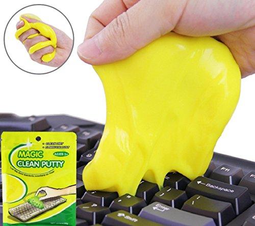 Cenblue 1 Stück Magic High-Tech Staub Reinigung Compound Super Clean Slimy Gel Reiniger Wischer für Tastaturen Tabletten Computer Taschenrechner