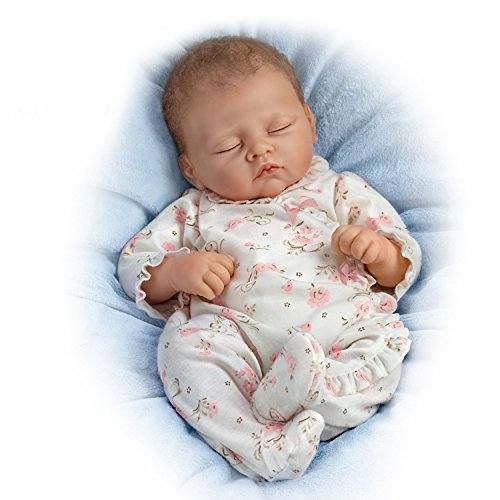 The Ashton - Drake Galleries Bella Rose Baby Doll Breathes, Coos and Has A Heartbeat