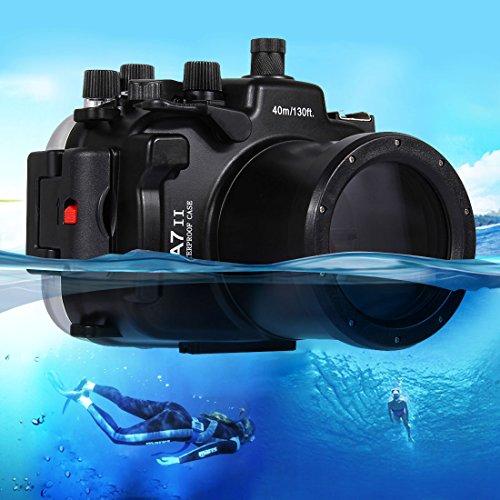 PAN-EX Casos de Buceo Vivienda de la cámara Impermeable de la Caja del Salto Submarino de los 40m para Sony A7 II / A7R II / A7S II
