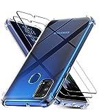 XCYYOO Funda para teléfono móvil para Samsung Galaxy A20E +2 película templada, Funda Protectora súper Transparente y súper Suave, Resistente a los arañazos