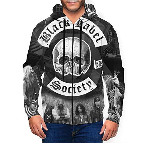 Black Label Society Man's Classic Full Zip Hoodie Pullover Sweatshirt Jacket Coat 3XL
