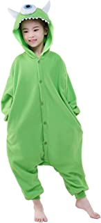 NEWCOSPLAY Halloween Unisex Animal Pyjamas Child Cosplay Costume Michael Wazowski