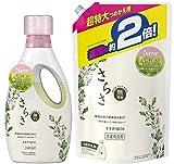 【まとめ買い】 さらさ 無添加 植物由来の成分入り 洗濯洗剤 液体 本体 850g 詰め替え 超特大 1640g (約2倍)