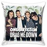 JIAYICENK One Direction Drag Me Down Decorativo Cuscino Lombare coperture di federe 18 x 18 Pollici