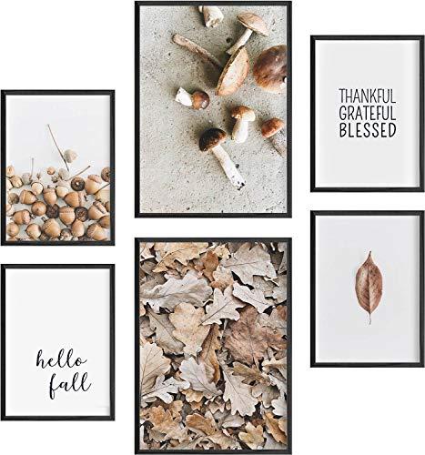 Mia Félice Deko Bilder für das Wohnzimmer modern und angesagt, Premium Poster Set » Hello Fall « Tumblr Deko Wand Bild, Dekoration Wohnung modern, Deko Schlafzimmer, Zimmer Deko OHNE BILDERRAHMEN
