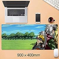 NARUTOマウスパッド大型拡張ゲーミングマウスパッド、滑り止め防水ラバーベースマウスマット-A_800X300X3mm