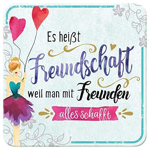 Sheepworld Untersetzer Motiv Es heißt Freundschaft, weil man mit Freunden alles schafft.