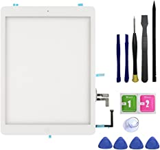 FeiyueTech IPad Air 1st Generation (IPad 5) Touch Screen Digitizer Replacement ,Front Glass Assembly -Includes Home Button + Camera Holder+PreInstalled Adhesive with Tools kit (White)