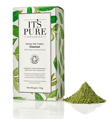 Organic Hair Dye - It's Pure Organics Herbal Hair Colour Chestnu