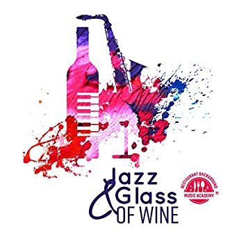 Jazz & Glass of Wine: Moody Restaurant Background for Parisian Romantic Dinner, Table for Two & Date Night