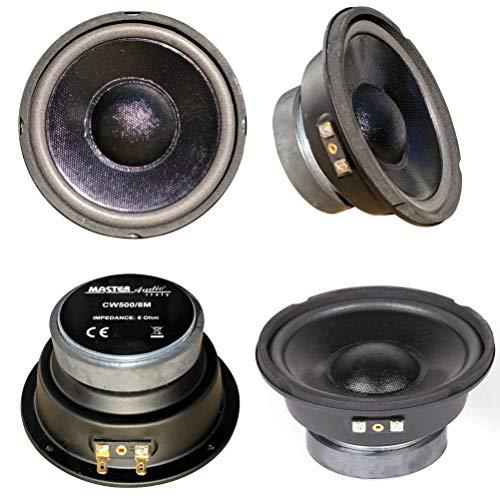 MASTER AUDIO CW500/8M altoparlante midrange 13,00 cm 130 mm 100 watt rms 200 watt max casa auto party impedenza 8 ohm, 1 pezzo