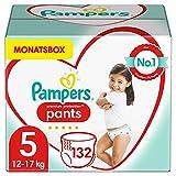 Pampers Baby Windeln Pants Größe 5 (12-17kg) Premium Protection, 132 Höschenwindeln, MONATSBOX