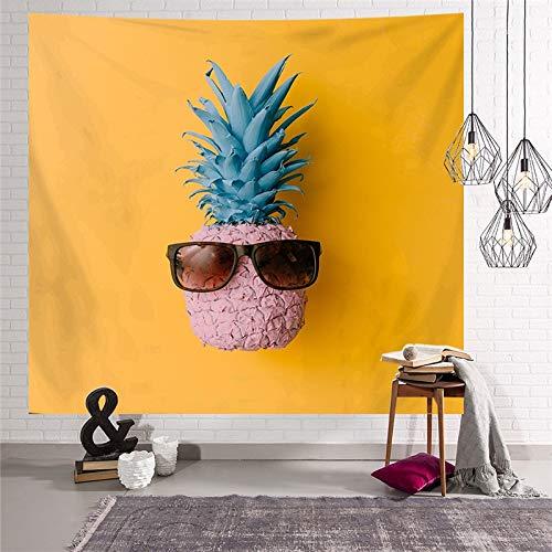 KHKJ Tapiz de Moda para Colgar en la Pared, Cubierta de Techo, Cubierta de Muebles, patrón de Estilo de piña, Tapiz Decorativo, decoración del hogar, A11 95x73cm