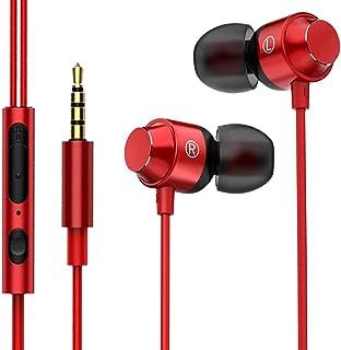 【2020改良】イヤホン3.5mm有線マイク付きクリア通話音漏れ防止イヤフォン ハイレゾ HIFI音質 重低音 有線イヤフォン マイク付き カナル型 イヤホン ステレオイヤフォン インナーイヤー型Android/PC多機種対応