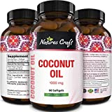 Extra Virgin Coconut Oil Capsules - MCT Coconut Oil Capsules 1000mg Energy Booster and Anti Aging...