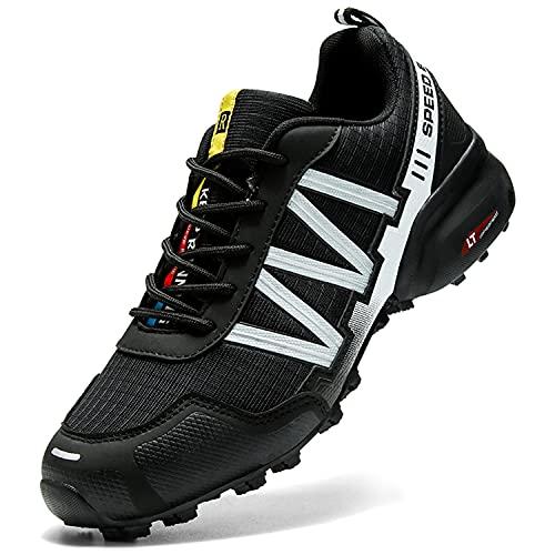 Dhinash Zapatillas de Senderismo Hombre Zapatillas de Trekking Ligeras Antideslizantes Zapatos de Trekking Aire Libre Deporte Zapatos de Senderismo Botas de Montaña Zapatillas de Trail Running 44EU