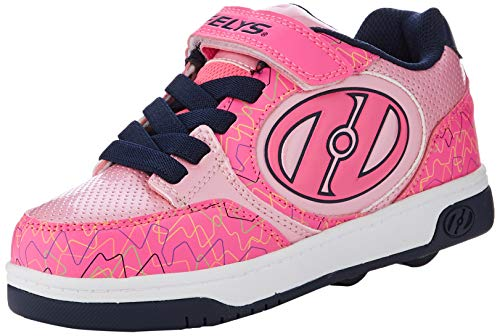 Heelys Mädchen Plus X2 Sneaker, Pink (Hot/Pink/Light Pink/Navy/Scribble Hot/Pink/Light Pink/Navy/Scribble), 35 EU