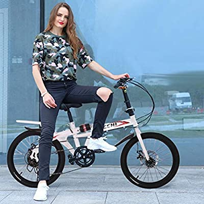 20in Folding Bikes for Adults 7 Speed City Folding Compact Bike Bicycle Urban Commuter?Ship from USA?