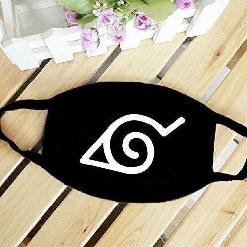 Bosi General Merchandise Naruto, máscara de Anime, Cosplay, algodón Negro, Lavable, máscara contra el Polvo, Compre uno y llévese Otro Gratis