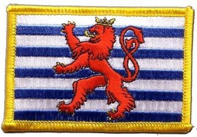 Flaggenfritze Flaggen Aufnäher Luxemburg Löwe Fahne Patch + gratis Aufkleber