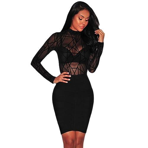 13833e7d474c59 Boldgal Girl's Fashion Sheer High-Neck Velvet Bodysuit Top (Black_Small)