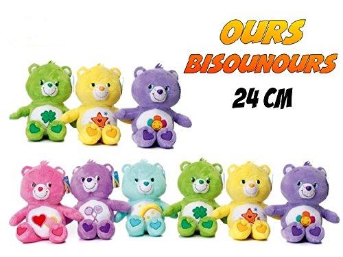 Glücksbärchi/ Glücksbärli ca. 22 bis 24 cm von Care Bears - Lieferumfang 1 Stück/ Bär von sechs möglichen Varianten - Keine Vorauswahl möglich, Lieferung erfolgt nach dem Zufallsprinzip