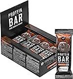 nu3 Barrita de Proteínas - 12 x 50g – Barras con proteína (20g) sabor a chocolate – Para mantener masa muscular – Mejoradas con whey protein, creatina y creapure – 3.95g de fibra y solo 160 Kcal