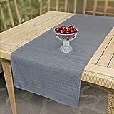 Delindo Lifestyle Tischläufer Samba, anthrazit, 40x140 cm, Fleckschutz, abwaschbar, für Indoor und Outdoor - 5