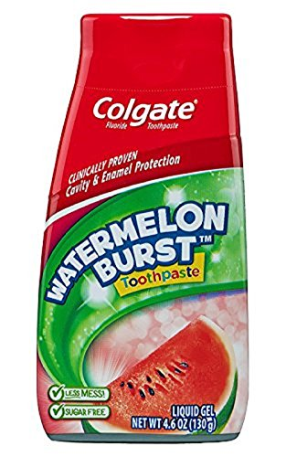 Colgate Kids 2 In 1 Toothpaste & Mouthwash, Watermelon Flavor, 4.6 oz (130 g) by Colgate (English Manual)