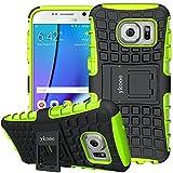 ykooe Galaxy S7 Hülle, Silikon Handyhülle Samsung Galaxy S7 Dual Layer Hybrid Schutzhülle TPU Hülle für Samsung Galaxy S7 (Grün Ständer)
