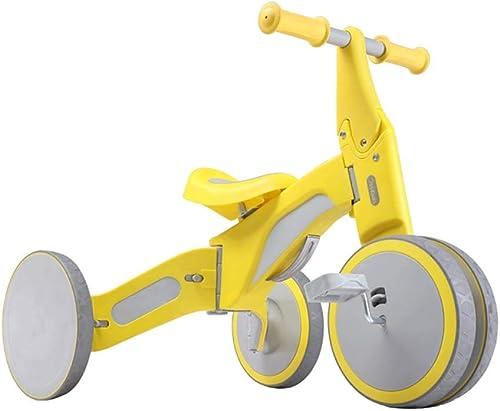 ventas en linea Bicicleta sin pedales YXX Bicicleta de Equilibrio amarillo amarillo amarillo para bebés Trike con pies, Bicicletas 4 Ruedas para Niños pequeños de 1 a 3 años  primera reputación de los clientes primero