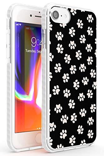 Dog Paws Impact Cover per iPhone 7 Plus TPU Protettivo Phone Leggero con Animali Modello Bulldog Francese Pug Amore
