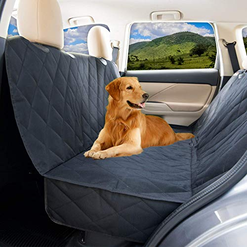 YoGi Prime Dog Car Seat Cover for Large Dogs Heavy Duty Dog Hammock Waterproof Backseat Covers, Pets Seat Protectors for Cars Trucks SUV XL Truck Bench Back Seats Covers for Dogs Universal fit