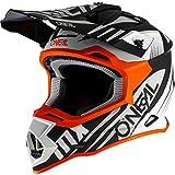 O'NEAL | Casco de Motocross | MX Enduro | Estándar de Seguridad ECE 22.05, Ventilación para una óptima ventilación y refrigeración | Casco 2SRS Spyde 2.0 | Adultos | Blanco Negro Naranja | Talla XS