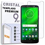 REY Protector de Pantalla para Motorola Moto G6 Plus/Moto G6+, Cristal Vidrio Templado Premium