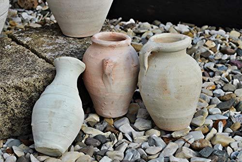 Kunert-Keramik Amphoren,3er Set,Handarbeit,ca.18 cm hoch,Tunesien,rustikal, Landhausstil