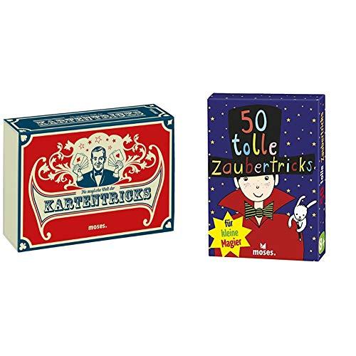 Moses. 28036 Die magische Welt der Kartentricks | 33 Zaubertricks mit Karten | Inkl. 32 Blatt SkatKartenset & 50 tolle Zaubertricks für kleine Magier | Kinderbeschäftigung | Kartenset