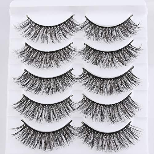 Cruelty-Free Beauty Makeup Reusable Professional Full Strips Natural Long Wispy Fluffy False Eyelashes 3D Faux Mink Hair(3D-53)
